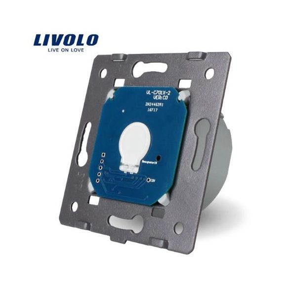 Механизъм за единичен. ключ със сух контакт захранване 12/24V LIVOLO VL-C7-C701C