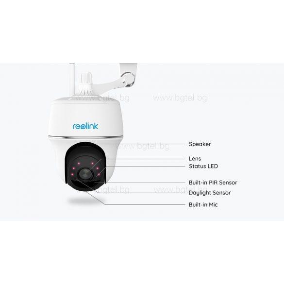 Безжична камера с вградена батерия, микрофон, слот за micro CD карта и датчик за движение - Reolink Argus PT